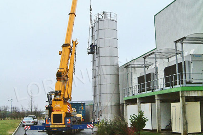 installation of ring silos